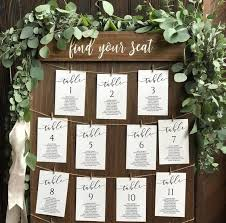 5x7 Wedding Seating Chart Templates Unconventional Seating