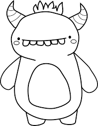Creepies Vinyl Monster Coloring Pages Doodle Monster Cute