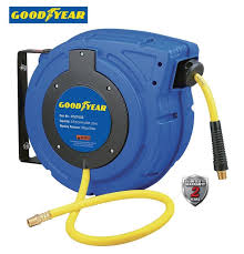 goodyear enclosed retractable air compressor water hose reel