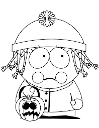South Park Halloween Coloring Page H M Coloring Pages