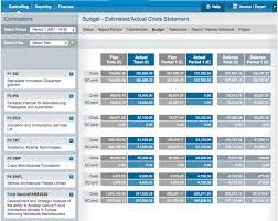 Budget Vs Actual Costs Controlling Emdesk Help