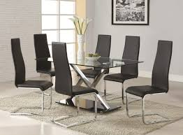 coaster modern dining contemporary room set with table sets drp fine furniture cherry trestle chairs and leather square for kitchen black bench white round