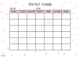 Monthly Planner Pink Spots Printable