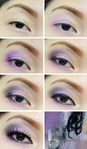 eye makeup tutorial lilac purple