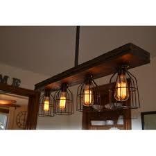 image popular kitchen island lighting fixtures. Triple Wood 4-Light Kitchen Island Pendant Image Popular Lighting Fixtures