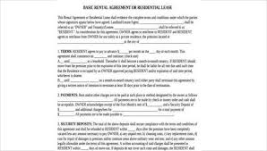 Lease Agreement Form Pdf Inspiration Sample Rental Agreement Formats 48 Free Documents In Word PDF