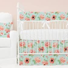mint green and c bedding stupefy crib peach baby caden lane decorating ideas 13