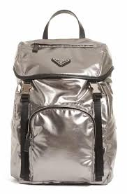 Prada Metallic Backpack