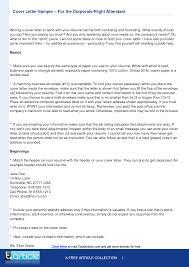 Example Of Application Letter For Flight Attendant Inspiring Flight