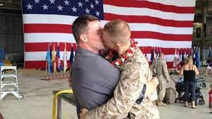 Gay Marine Sgt. Brandon Morgan on a Welcome-Home Kiss That Went Viral