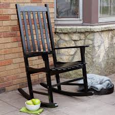 black rocking chair outdoor