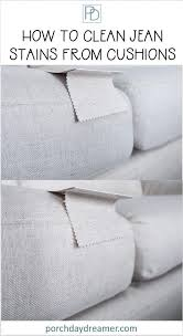 to clean jean stains from sofa cushions