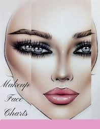 Makeup Face Charts A Sturdy Blank Paper Practice Face Chart