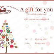 free printable christmas gift certificate templates gift certificate templates free printable vastuuonminun