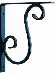 black s 9 x8 premium heavy duty wrought iron countertop brackets handcrafted powder coated decorative bracket corbels for use with interior exterior