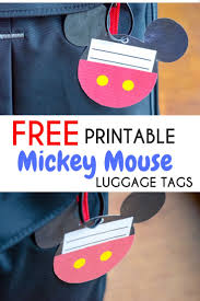 Printable Luggage Tags Free Printable Mickey Mouse Luggage Tags Brought To You By Mom