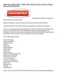 calaméo mitsubishi 4g63 32hl, 4g64 33hl diesel engine service Mitsubishi 4G64 Engine Manual mitsubishi 4g63 32hl, 4g64 33hl diesel engine service repair manual download