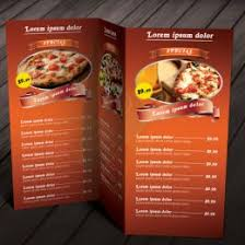 free food menu templates a menu template engneeuforicco 261582585983 food menu templates