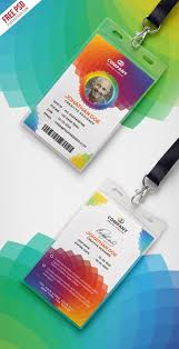 Creative Name Badge Design Free Psd Corporate Branding Identity Card Psd On Behance