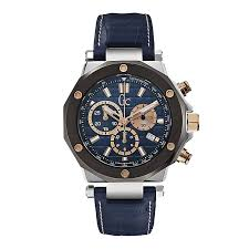 gc men s chronograph blue leather strap watch ernest jones gc men s chronograph blue leather strap watch product number 1957899