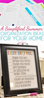 A Simplified Summer Organization Ideas For Your Home