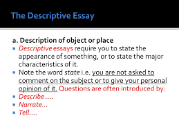 english language services ppt video online  the descriptive essay a description of object or place