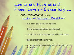 Reading Level Conversion Chart Fountas And Pinnell And Lexile Session 5 Lexiles And Other Progress Monitoring Tools Nancy