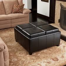 46 most great round leather storage ottoman black ottoman coffee table round leather coffee table round