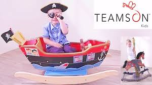 boys s playtime wooden pirate ship rocking horse toys review