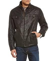quilted: Men's Coats, Jackets & Vests | Dillards.com & Cremieux Monaco Quilted Double Collar Full-Zip Leather Jacket Adamdwight.com