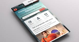 Perspective App Screen Mock Up Psd Mock Up Templates Pixeden