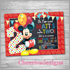 Free Mickey Mouse Template Download Sample Mickey Mouse Invitation Template 13 Download