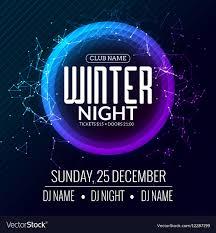 Poster Design Party Dance Party Dj Battle Poster Design Winter Disco