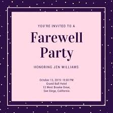 Farewell Party Invitation Templates Template Letter To Boss
