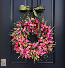spring wreath for front doorSix Gorgeous Spring Wreaths to Dress Up Your Front Door  Driven
