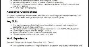 Licensed Psychologist Sample Resume Mesmerizing Sample Of 44 Psychology Resume Examples Selected Samples Www