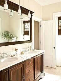 trim around bathroom mirror. Put Trim Around Bathroom Mirror To Go Dark Wood Tan Walls White