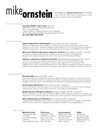 Resume Rough Draft Mike Ornstein Cdf Fall 2011