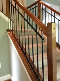 Metal railing stairs Outdoor Interior Metal Railing Wooden Stair Case Railing Installed In Oh Interior Metal Stair Railing Systems Avpetclinicinfo Interior Metal Railing Stadtcalw