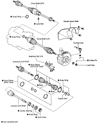 Repair guides manual transaxle halfshafts 9 exploded view of the slip type driveshaft 5s fe
