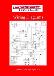 westerbeke engine manuals & parts catalogs Starter Generator Wiring Diagram westerbeke wiring diagrams