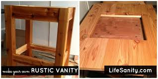 building your own bathroom vanity. Make Your Own Rustic Vanity Building Bathroom A