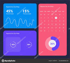 Web Design Charts Graphs Minimalistic Infographic Template With Flat Design Daily