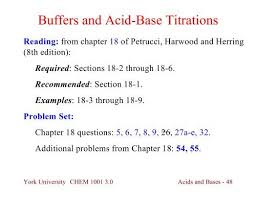 Buffers And Acid Base Titrations