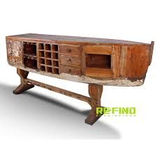 recycled boat wood wine rack