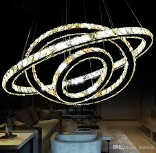 hot ing hot crystal diamond ring led crystal chandelier light modern crystal pendant lamp 3 circles diffe size position llfa hanging light