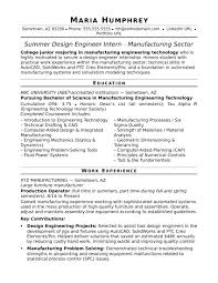 Manufacturing Engineer Resume Template Best of Sample Resume For An EntryLevel Design Engineer Monster