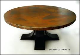 round copper dining table large round copper top dining table oak wood pedestal table base 60 round copper dining table