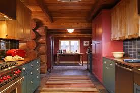 Red Birch Cabinets Kitchen Log Home Design Interior Design Mn Nc Lilu Interiors
