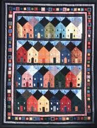 Row houses - log cabin block vintage quilt pattern | Vintage ... & Row Houses, 86 x by Flavin Glover, author of A New Look at Log Cabin Quilts Adamdwight.com